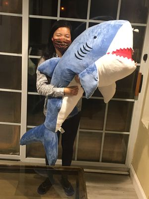 "Huge 54"" Length Great White Shark Plushie Stuffed Animal NEW for Sale in Alexandria, VA"