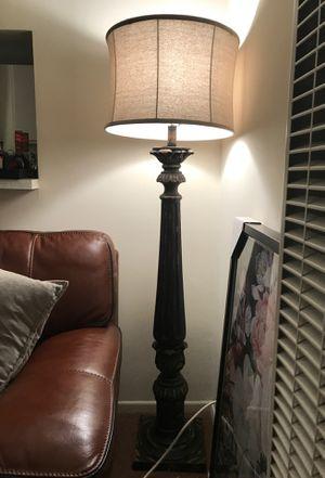 Vintage looking rustic black/brown floor lamp brand new! for Sale in Los Angeles, CA