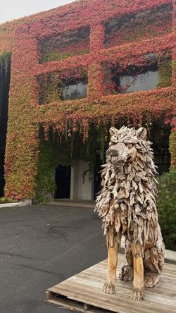 Solid Wood (teak) Lion Statues W/ Steel Support $1499 for Sale in Vancouver,  WA