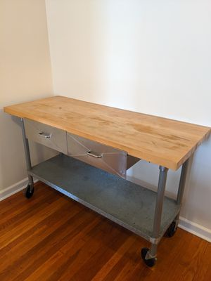 Custom-built Rolling Kitchen Table for Sale in New York, NY