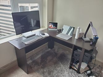 Wood Computer desk - L Desk - L-shaped executive desk for Sale in Seattle,  WA
