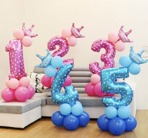 "11 PCs 45"" tall Number Balloons with crown for baby Birthday boys birthday, girls birthday, kids birthday, adult birthday, Wedding, New Years Pa for Sale in Corona, CA"