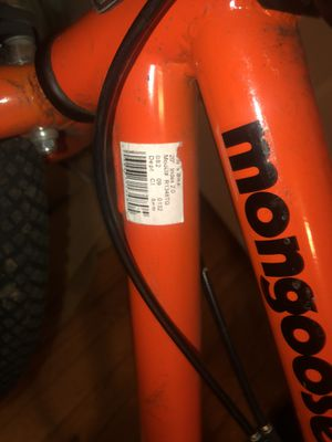 Bmx Mongoose bike with pegs needs breaks fix for Sale in New Haven, CT