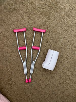 Doll crutches. Works for American girl dolls for Sale in Anaheim, CA