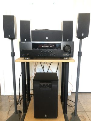 YAMAHA Complete Home Theater Stereo System w/ Bluetooth adapter for Sale in Phoenix, AZ