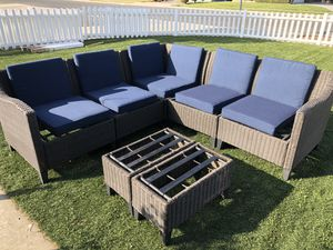Used wicker patio chair set in great condition for Sale in Whittier, CA