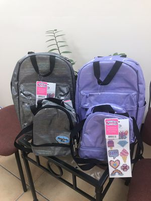 BACKPACK & LUNCH BOX - water resistance for Sale in Miami, FL