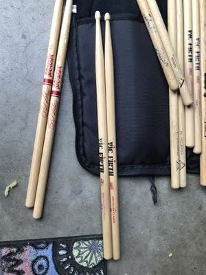 Collection of various drum drumsticks for Sale in Houston, TX