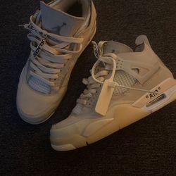 Size 7 Off White Nike Air Jordan 4 NO MEET UPS no trades for Sale in Murfreesboro,  TN