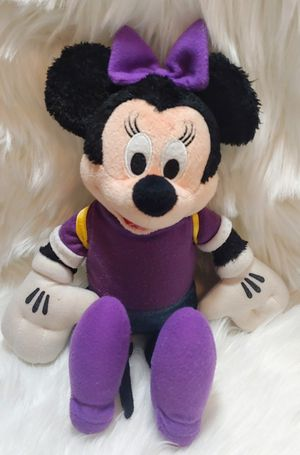 "Disney Minnie Mouse SCHOOL GIRL BACKPACK PURPLE stuffed plush animal 12"" for Sale in Murray, UT"