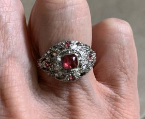 New CZ pink amethyst sterling silver 925 ring size 6 for Sale in Inverness, IL