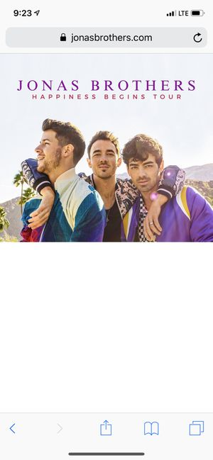 Jonas brothers concert tickets two!! Hollywood Bowl October 21!! for Sale in Los Angeles, CA
