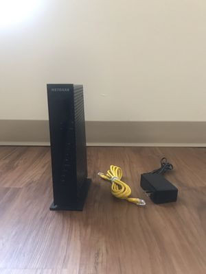 Netgear - Dual-Band AC1750 Router with 16 x 4 DOCSIS 3.0 Cable Modem - Black for Sale in Quincy, MA