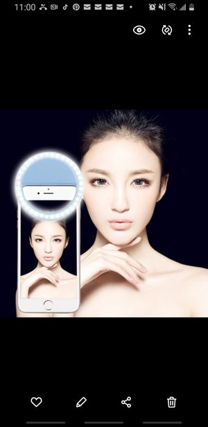 Blue charging selfie beauty light for Sale in Brooklyn, NY