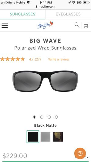 """12f8037d19 Maui Jim """"Big Wave"""" polarized wrap sunglasses for Sale in Chester"""