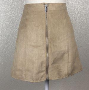 H&M faux suede front zipper mini skirt for Sale in Mesa, AZ