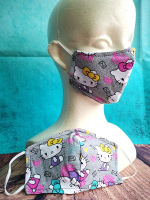 Kids Face mask, facemask (Hello Kitty mail): Hand made mask, reversible, reusable, washer and dryer safe. for Sale in Signal Hill, CA