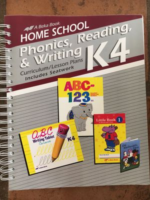 Abeka Home School Phonics, reading and writing K4 for Sale, used for sale  Tucson, AZ