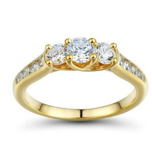 1 Carat t.w. Diamond Three-Stone Ring in 14K Yellow Gold for Sale in Atlanta, GA