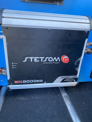stetsom amplifier ex5000 price 1 ohm for Sale in Lawrence, MA
