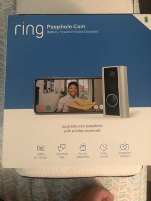 Ring Peephole Cam. Timbre de Camara for Sale in Midland, TX