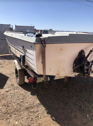 Trailer and boat for sale boat need motor for Sale in Phoenix, AZ