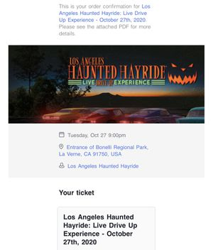Haunted Hay Ride Tuesday October 27 for Sale in La Habra, CA