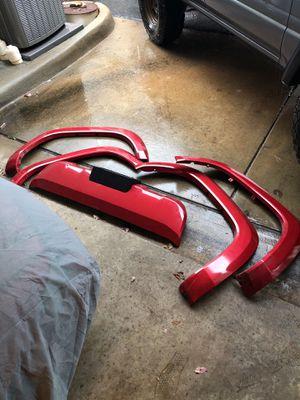 2016+ Toyota Tacoma fender flares + front bumper Barcelona red for Sale in Fairfax, VA