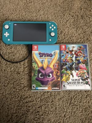 NINTENDO SWITCH WITH 5 GAMES for Sale in Fresno, CA