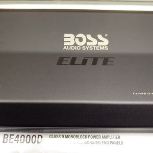 Car Amplifier : Boss Elite 4000 Watts 1 ohm monoblock Class D Built in Crossover 40a×3 fuses With Bass Control for Sale in Bell, CA
