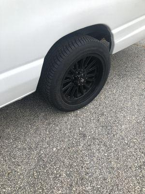 20 inch 8 lug glossy black rims for Sale in Lithonia, GA