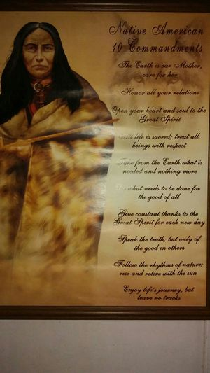 American Indian 10 commandments for Sale in Vidalia, GA