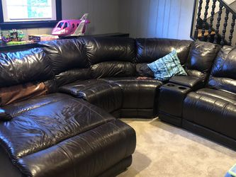 Brown Faux Leather Sectional Couch for Sale in Smithfield,  RI