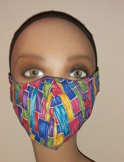 Geometric Multi-Color Face Mask Reusable Washable Cover Masks for Sale in Springdale,  MD