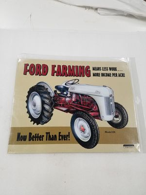 Ford farm farming tractor metal sign for Sale in Vancouver, WA
