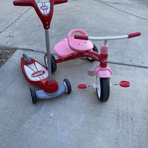 Radio Flyer Trycicle And Scooter for Sale in Carefree, AZ