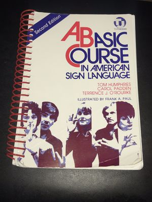 A Basic Course in ASL (American Sign Language) Second Edition for Sale in Homosassa, FL