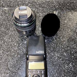 Canon Camera Lenses, Flash, Plus Case for Sale in Richmond, VA