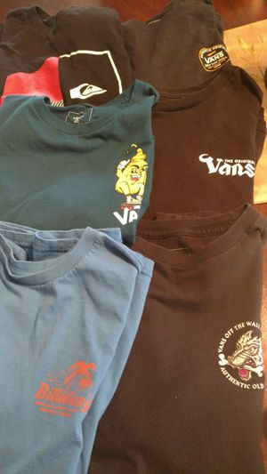 Quicksilver and Vans youth shirts for Sale in Imperial, CA