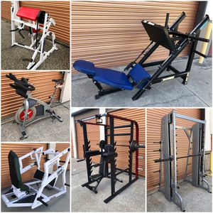 Weight Benches, Smith Machines, Squat Racks, Olympic Weights, Leg Presses, Spin Bikes Etc. for Sale in Davenport, FL