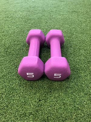Dumbbell 💪🏻 Weights Set 5 lbs -Brand New! for Sale in Santa Clarita, CA