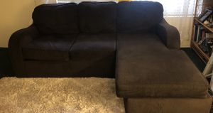 Sectional brown polyester couch for Sale in Culver City, CA