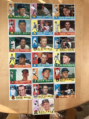 * (61) * 1960 TOPPS BASEBALL CARDS * EXCELLENT CONDITION * for Sale in Lafayette, CA