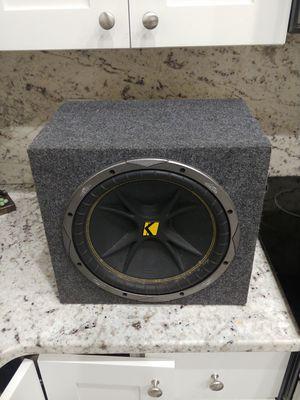 "Kicker speaker 07c124 12"" with cab 4 ohms for Sale in GRANT VLKRIA, FL"