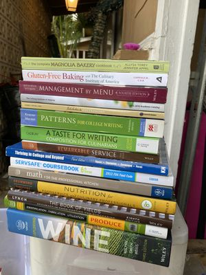 Culinary arts books (food and wine ) for Sale in San Antonio, TX