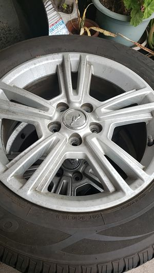 """Mustang Rims and tires 17"""" good condition for Sale in Westminster, CA"""