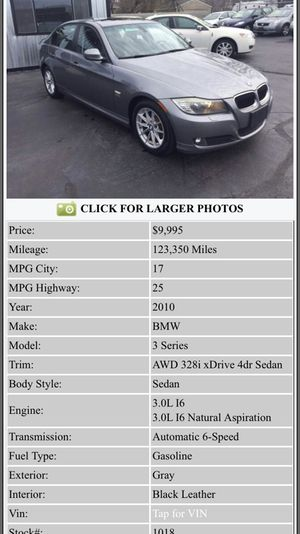 2010 BMW 3-series AWD Everyone is approved no credit check over 100 cars and trucks for Sale in Pontiac, MI