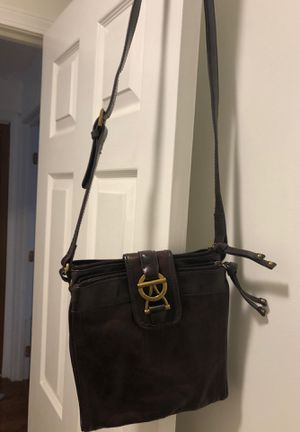 Tignanello heavy brown leather messenger bag for Sale in Haverhill, MA