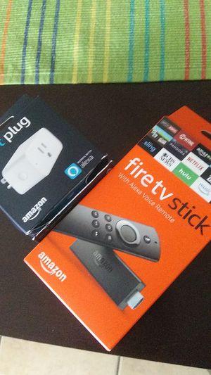 Fire tv stick and Smart Plug for Sale in Phoenix, AZ