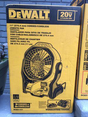 Dewalt 20volt cordless/corded Jobsite fan for Sale in Austin, TX